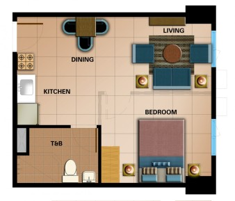 Typical Executive Studio Unit Approx. 36.96 sqm.