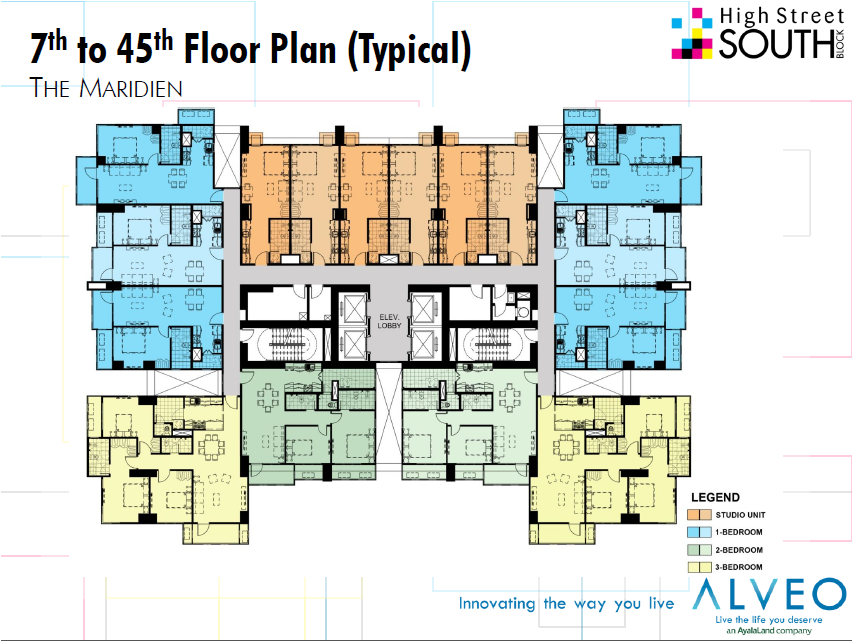 Bonifacio global city condo ayala land broker for Quadruplex floor plans