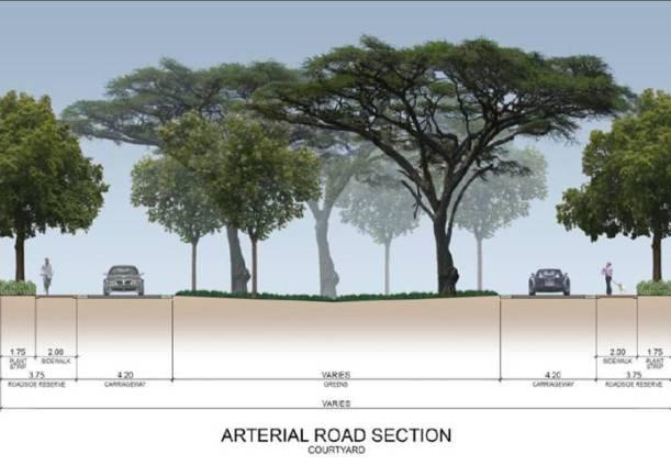 Luscara-Arterial Road - Courtyard