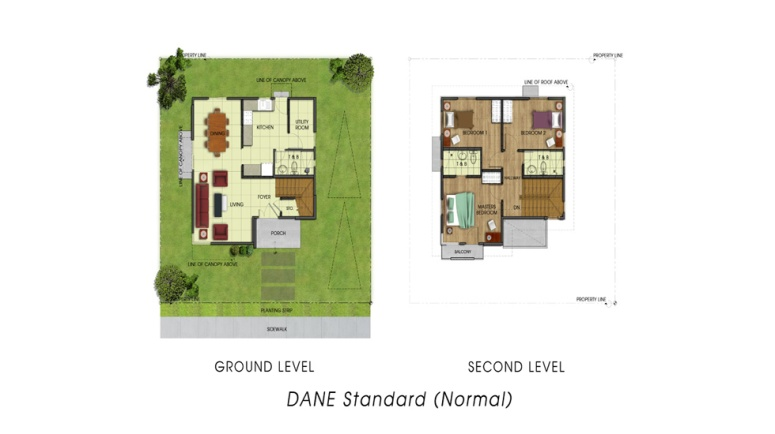 Basic/ Standard Floor Area: 117 sq. m. Minimum Lot Area: 166 sq. m.